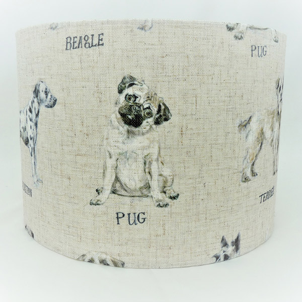 Dogs pattern lampshade countryshades dogs pattern lampshade mozeypictures Image collections
